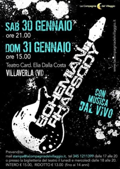 Evento Musical Bohemian Rhapsody - Villaverla - La Compagnia del Villaggio