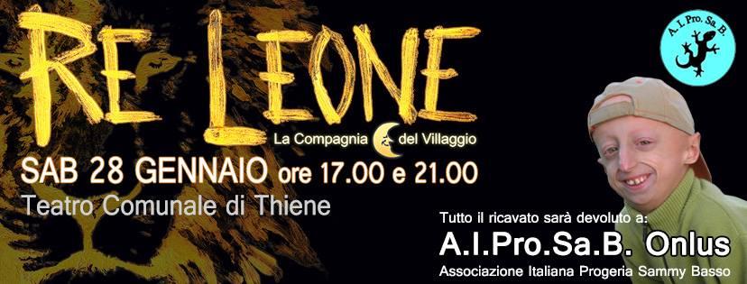 Re Leone - Eventi Thiene gennaio 2017 - La Compagnia del Villaggio